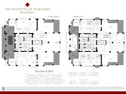 5 Bedroom Floor Plans 2 Story Mansions At Acqualina Lux Life Miami Blog