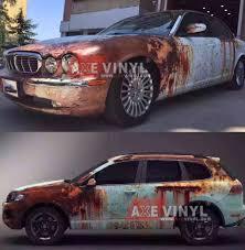 velvet wrapped cars rusty camouflage vinyl rust vinyl u0026 patina vinyl rust wrap