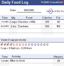 printable daily food intake journal food log template printable daily food log