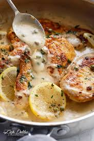 Chicken Piccata Ina Garten Creamy Lemon Parmesan Chicken Piccata Cafe Delites