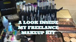 mua talk look inside my freelance makeup kit youtube