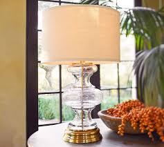 Glass Table Lamps Jasmine Glass Table Lamp Base Pottery Barn