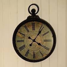 Oversized Clocks by Furniture Antique Style Pocket Watch Oversized Wall Clock