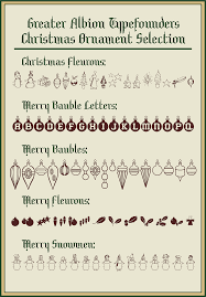 ornaments greater albion typefounders