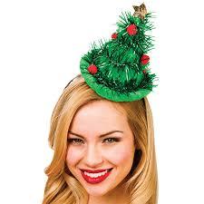 christmas tree hat adults green tinsel christmas tree hat on headband fancy