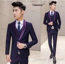 design of jacket suit modern latest coat pant designs prom suits navy purple jacket vest