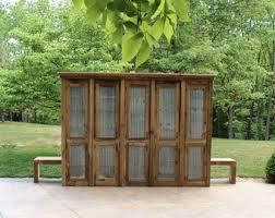 Linen Cabinet Doors Rustic Linen Cabinet Etsy