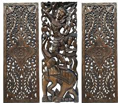 wall decor wood carving wood carved floral wall home decor