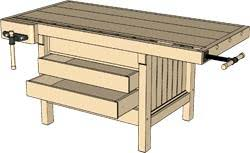 Simple Wood Workbench Plans by Workbenches U2014 Woodworking Online