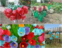 Decoration Ideas For Garden Plastic Bottles Crafts Ideas To Reuse As Garden Decorations