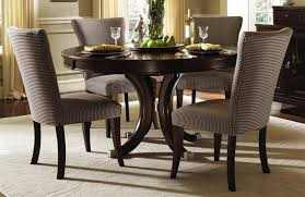 Round Wood Dining Tables Creditrestoreus - Black dining table with wood top