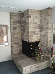 stone corner fireplace binhminh decoration