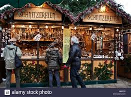christmas fair market at ludwigsberg germany a booth selling