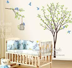 Vinyl Wall Decals For Nursery Vinyl Wall Decals Tree Wall Decal Birds Birdcage Wall By Cuma