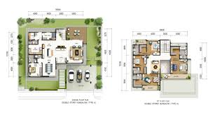 2 Storey House Designs Floor Plans Philippines by Two Storey Residential House Floor Plan With Elevation Indian