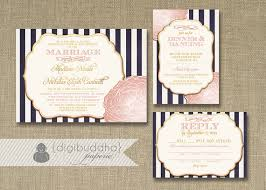 navy and blush wedding invitations blush pink gold wedding invitation rsvp info card 3