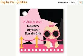 sale a star is born hollywood black pink baby shower custom