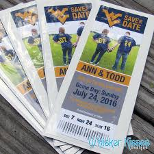 sports ticket invitation sports save the date save the date magnet photo sports ticket