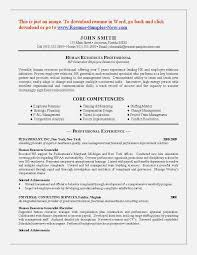 Core Competencies Examples For Resume by 100 Sample Resume Hr Generalist Sample Cv Of Hr Executive