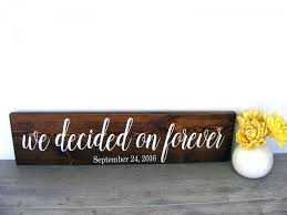 Save The Date Signs We Decided On Forever Engagement Photo Sign Save The Date Prop