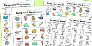 word worksheet compound literacy english worksheet