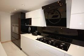 black u0026 white gloss contemporary kitchen in rochester ream