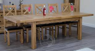 Large Extending Dining Table Coniston Rustic Solid Large Oak Extending Dining Table Oak