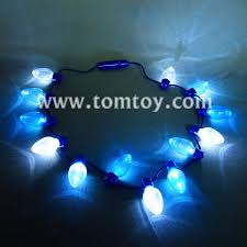 led light up bulb necklace favors tomtoy