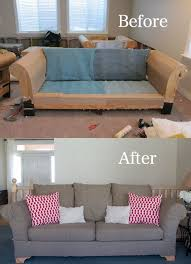 ugly couch diy reupholster those ugly couches once and for all it s easy
