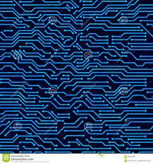 Hi Tech Cutting Board Circuit Board Seamless Vector Background Stock Vector Image