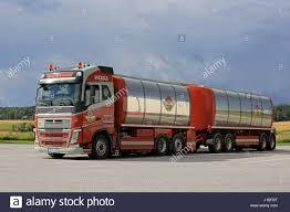 volvo truck 500 salo finland august 7 2016 colorful volvo fh 500 tank truck
