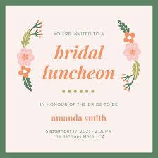 bridal luncheon invite luncheon invitations luncheon invitation templates canva mes