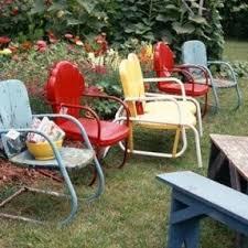 vintage metal outdoor furniture hollywood thing