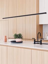 Kitchen Pendant Light by Ledlux Strix Led 2400 Lumen Dimmable Pendant In Black Modern