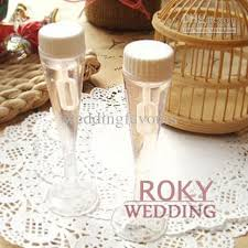 wedding bubbles chagne glass wedding bottle favors soap water bottle for