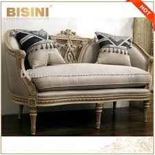 Linen Chesterfield Sofa Retro Living Room Furniture Solid Wood Carved Linen