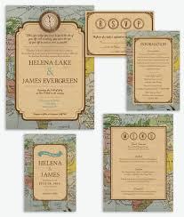 themed wedding invitations rustic vintage travel theme wedding invitation