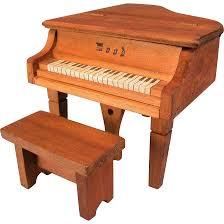 dollhouse miniature u0027wood u0027 piano with bench 1920s 1930s 1