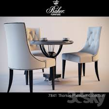 Baker Dining Room Table And Chairs 3d Models Table Chair Baker Furniture Ritz Dining Chair 7841