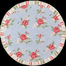 second life marketplace shabby chic round rug with stripes