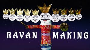 diy how to make ravana at home for children making of ravana