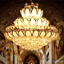 Gold Capiz Chandelier Modern Gold Crystal Chandeliers Lights Fixture European American