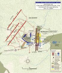 Fredericksburg Va Map Battle Of Chancellorsville Campaign Civil War Virginia Map