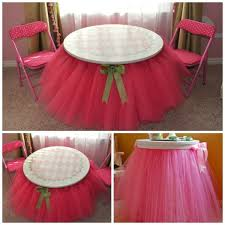 how to make a tulle skirt diy no sew tulle tutu table skirt