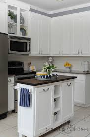 2 Colour Kitchen Cabinets Remodelaholic Diy Refinished And Painted Cabinet Reviews