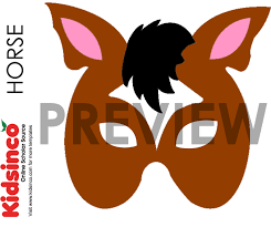 horse mask template horse pattern halloween costumes