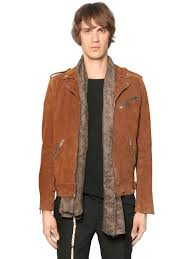 biker jacket men the kooples suede leather biker jacket brown men clothing jackets