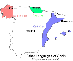 Spain Map World by Languages Of Spain Other Than Spanish