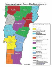 Map Vermont Wastewater Program Contact Information Department Of