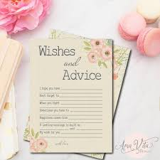 bridal shower wish wishes for bridal shower printable instant rustic